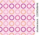 retro polka dots seamless... | Shutterstock .eps vector #1238568646