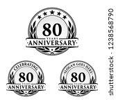 80 years anniversary set. 80th... | Shutterstock .eps vector #1238568790