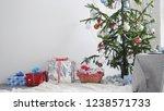 stylish white christmas...   Shutterstock . vector #1238571733