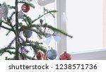 stylish christmas fir tree by...   Shutterstock . vector #1238571736