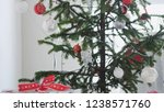 stylish christmas decorated fir ...   Shutterstock . vector #1238571760