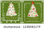 greeting green cards for winter ...   Shutterstock .eps vector #1238582179