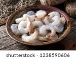a bowl of fresh raw pacific... | Shutterstock . vector #1238590606