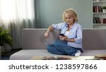 nice middle aged woman sitting... | Shutterstock . vector #1238597866