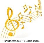 music note | Shutterstock . vector #123861088
