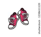 sneakers converse shoes pair... | Shutterstock .eps vector #1238611120