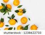 fresh orange mandarins ...   Shutterstock . vector #1238622733