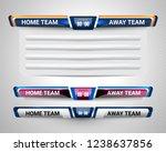 scoreboard broadcast graphic... | Shutterstock .eps vector #1238637856