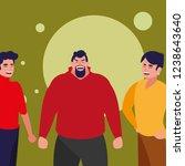 cartoon men icon | Shutterstock .eps vector #1238643640