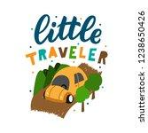 kids hand drawn lettering... | Shutterstock .eps vector #1238650426