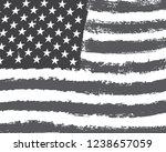 vector grunge american flag | Shutterstock .eps vector #1238657059