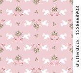 seamless vector peaceful white...   Shutterstock .eps vector #1238668903