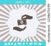 receiving money banknotes stack ... | Shutterstock .eps vector #1238670199