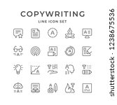 set line icons of copywriting | Shutterstock .eps vector #1238675536