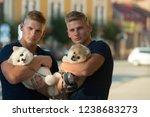 always happy together. muscular ...   Shutterstock . vector #1238683273