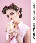 Banana Dieting. Pinup Girl Wit...