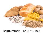 carbohydrates of loaf  potatoes ... | Shutterstock . vector #1238710450