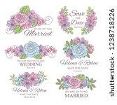 wedding decorator wedding... | Shutterstock .eps vector #1238718226