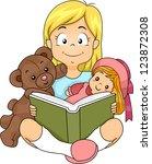 Illustration Of A Girl Reading...