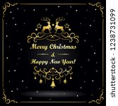 new year and christmas greeting ... | Shutterstock .eps vector #1238731099