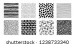 irregular dots  striped ... | Shutterstock .eps vector #1238733340