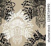 seamless pattern deer with... | Shutterstock .eps vector #1238734990