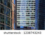 glass facades of skyscrapers in ... | Shutterstock . vector #1238743243
