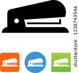 vector stapler office supply... | Shutterstock .eps vector #1238743546