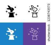 rabbit in the hat icon set | Shutterstock .eps vector #1238743573