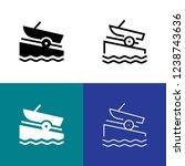 boat ramp icon set
