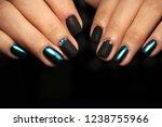 stylish black manicure on long... | Shutterstock . vector #1238755966