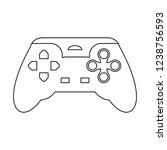 gamepad videogame device in... | Shutterstock .eps vector #1238756593