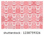 new year card with wild boars... | Shutterstock .eps vector #1238759326