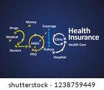 health insurance 2019 blue... | Shutterstock .eps vector #1238759449