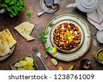 arabic cuisine  egyptian... | Shutterstock . vector #1238761009