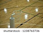 netball hoop. an indoor court... | Shutterstock . vector #1238763736