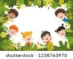 vector illustration of kids...   Shutterstock .eps vector #1238763970