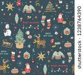 christmas background  seamless... | Shutterstock .eps vector #1238764390