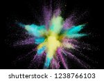 colored powder explosion.... | Shutterstock . vector #1238766103