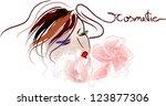 vector illustration of beauty... | Shutterstock .eps vector #123877306