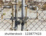 Rusted Gate Is Lock With A...