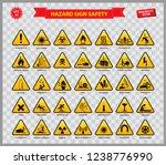 set of hazard sign safety ... | Shutterstock .eps vector #1238776990