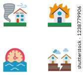 natural disasters. set icon eps ... | Shutterstock .eps vector #1238779906
