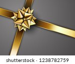 golden ribbon with star | Shutterstock .eps vector #1238782759