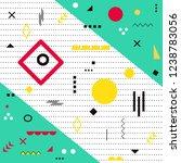 funky design background  modern ... | Shutterstock .eps vector #1238783056