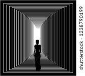 the silhouette of an elegant...   Shutterstock .eps vector #1238790199