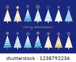 set of assorted christmas trees ... | Shutterstock .eps vector #1238792236