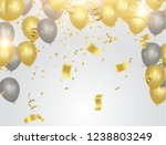 happy new year text  lettering... | Shutterstock .eps vector #1238803249