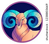 aries zodiac sign  astrological ... | Shutterstock .eps vector #1238803669