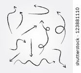 arrows drawing vector | Shutterstock .eps vector #123881110